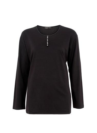 Butik Triko Bluz Siyah